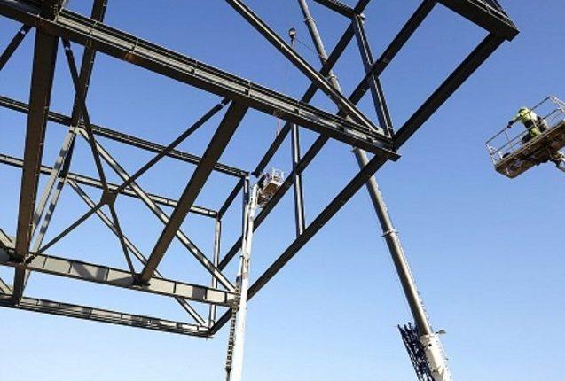 Aufstockung Stahlkonstruktion