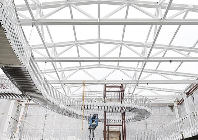 FachwerkbinderTreppenanlage Stahl