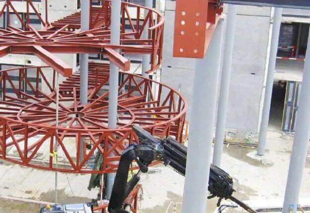 Stahlkonstruktion Treppenanlage