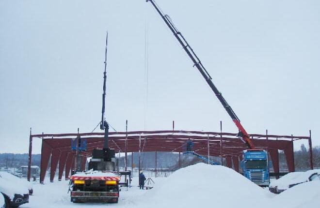 Stahlhallenkonstruktion Ausstellungshalle